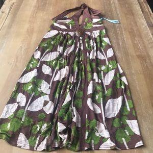 Prairie summer halter dress